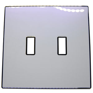 UC41 Two-Tone,White-Purple Pearl/ 2-Gang Toggle Cover & Chrome Frame
