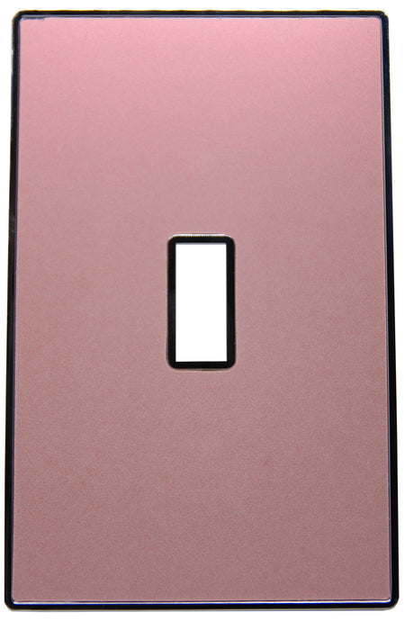UC42 Blush Pearl/ 1-Gang Toggle Cover & Chrome Frame