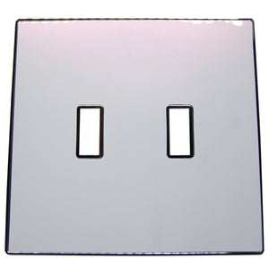UC45 Two-Tone,White-Pink Pearl/ 2-Gang Toggle Cover & Chrome Frame
