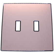 UC46 Pink Beige Pearl/ 2-Gang Toggle Cover & Chrome Frame