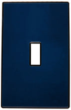 UC48 Dark Navy/ 1-Gang Toggle Cover & Chrome Frame