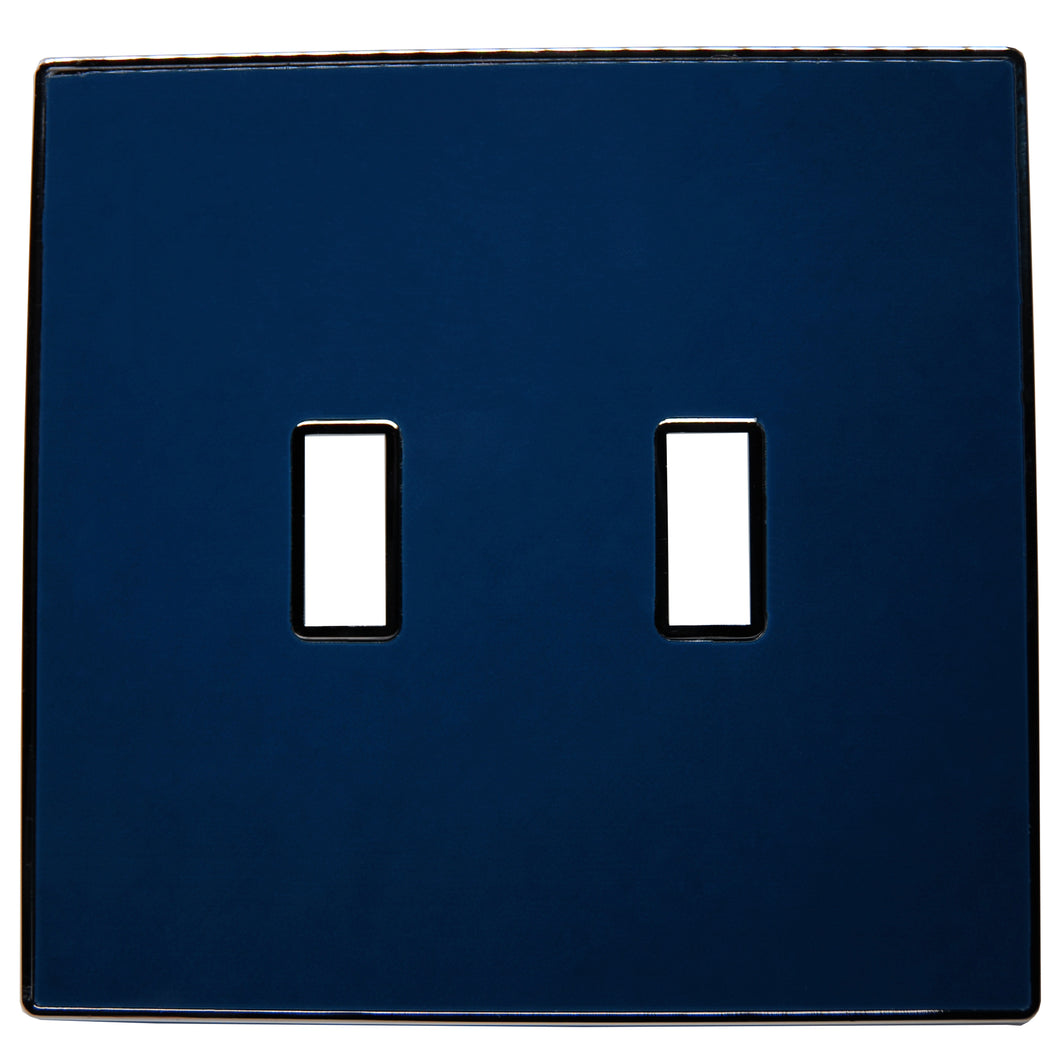 UC48 Dark Navy/ 2-Gang Toggle Cover & Chrome Frame