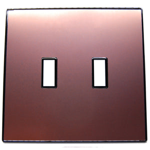 UC50 Rose Gold/ 2-Gang Toggle Cover & Chrome Frame