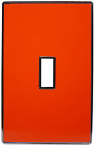UC56 Deep Orange/ 1-Gang Toggle Cover & Chrome Frame