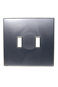 UC24 Silver/ 2-Gang Toggle Cover & Chrome Frame
