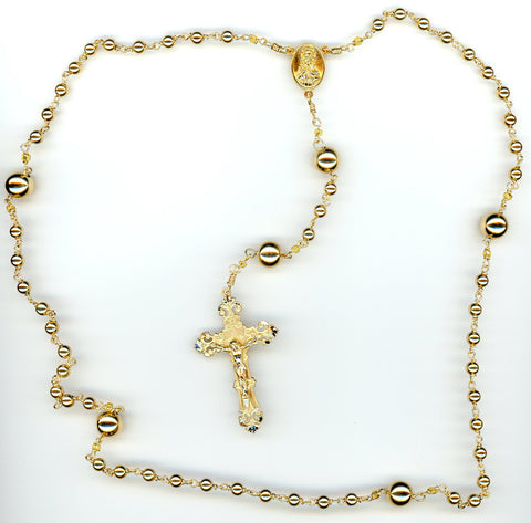 Gold-Filled Rosary Beads