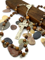 Custom wooden rosary for sale