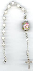 Pearl Rosary Bracelet Single Decade