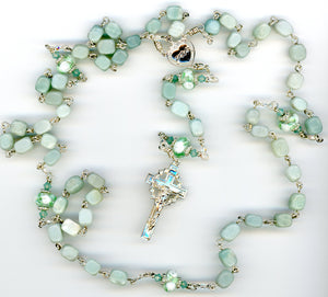 Amazonite Rosary with Fancy Glass