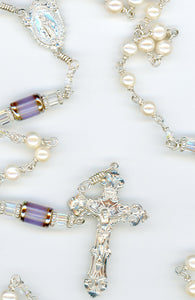 Freshwater Pearl Rosary All Argentium Silver