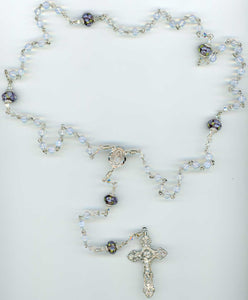 Moonstone Rosary in Sterling Silver