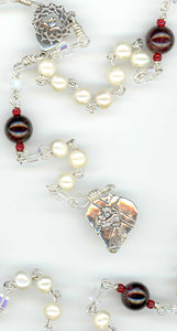 Pearl Seven Sorrows in Sterling Silver