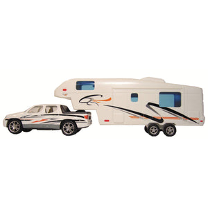 Prime Products 27-0020 Pickup Truck & 5th Wheel Toy