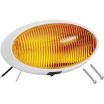 Bargman 30-79-006 Porch Light #79 Oval Amber w/White #5 Base & Switch