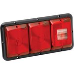 Bargman 34-84-009 Taillight #84 Recessed Triple Horizonal Mount Red, Red, Backup with Black Bse