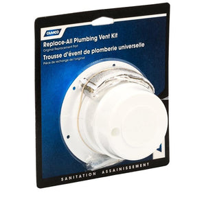 Camco 40033 Replace-All Plumbing Vent Kit - White