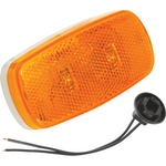 Bargman 42-59-402 Side Marker Clearance Light LED #59 Amber w/White Base