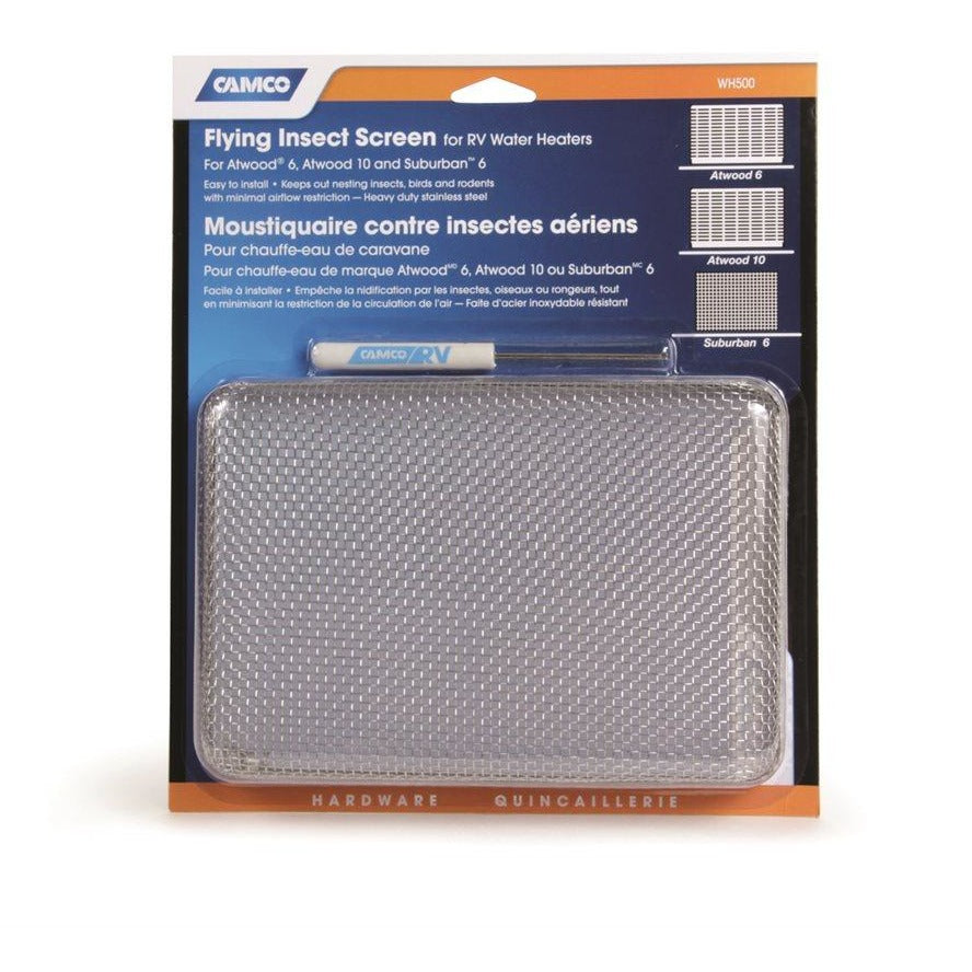 camco 42145 flying insect screen water heater