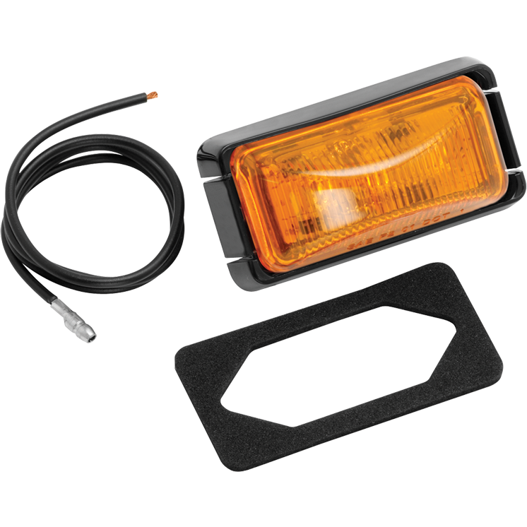 Bargman 44-37-032 Clearance Light Sealed #37 Amber with Black Base and Wire