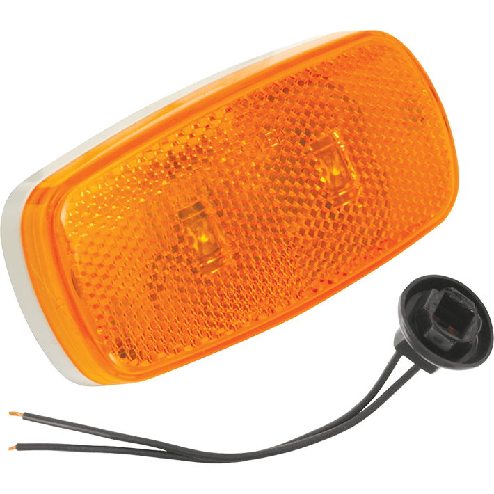Bargman 47-59-402 Side Marker Clearance Light LED #59 Amber w/White Base