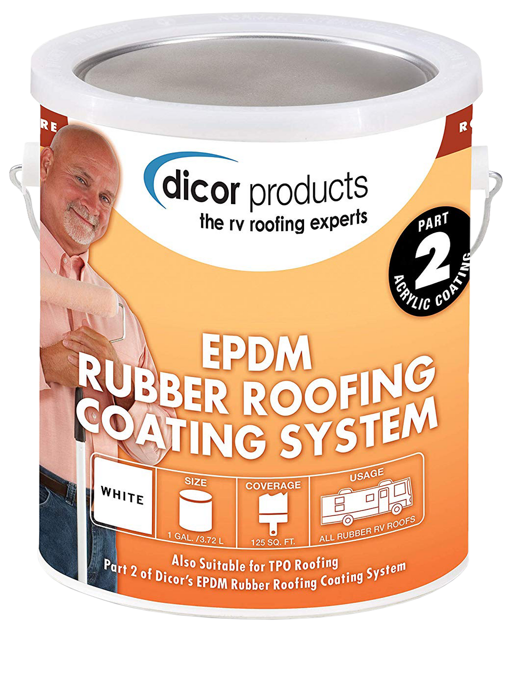 Dicor EPDM Roof Acrylic Coating