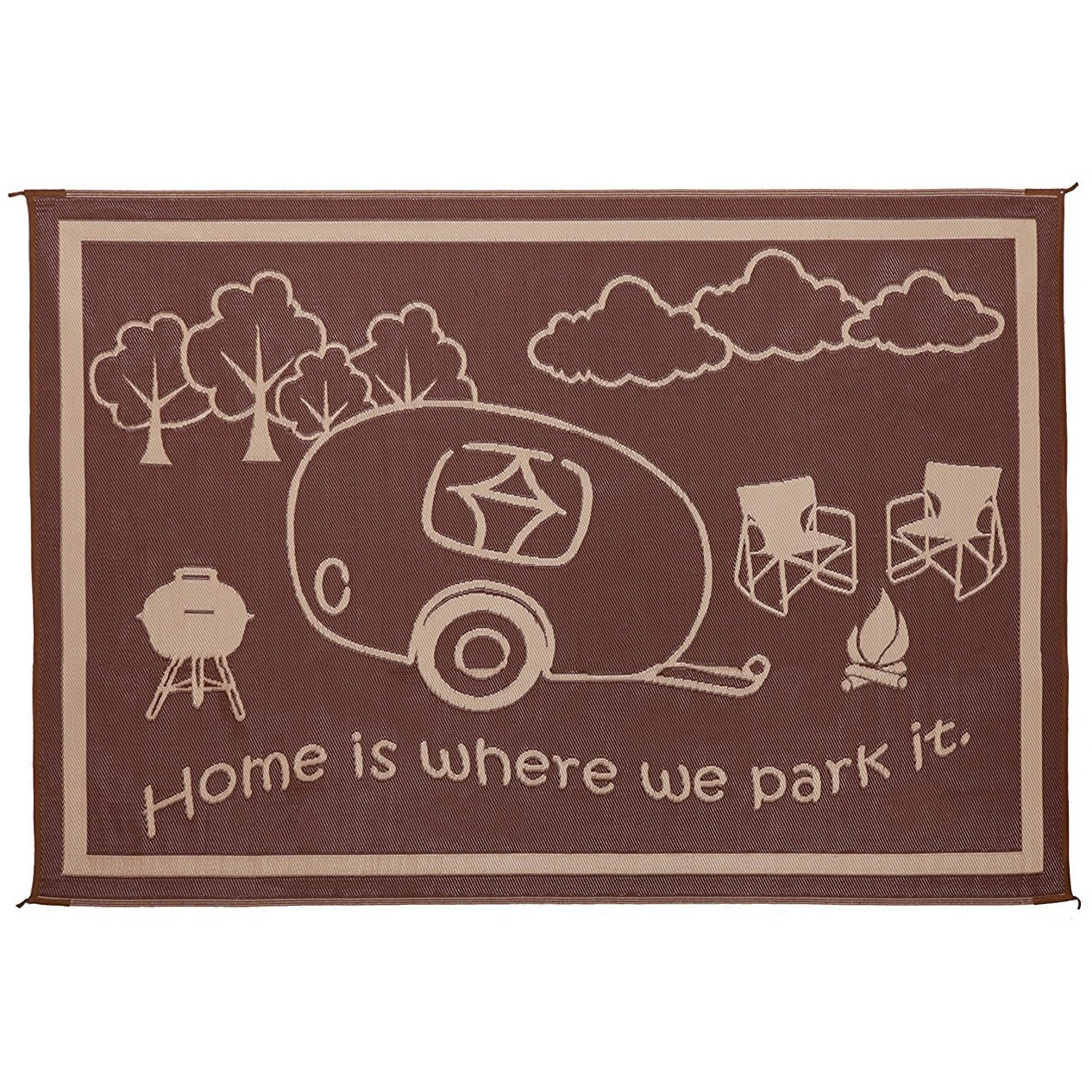 "Ming's Mark ""Home is Where We Park It"" Mat 8 x 11"