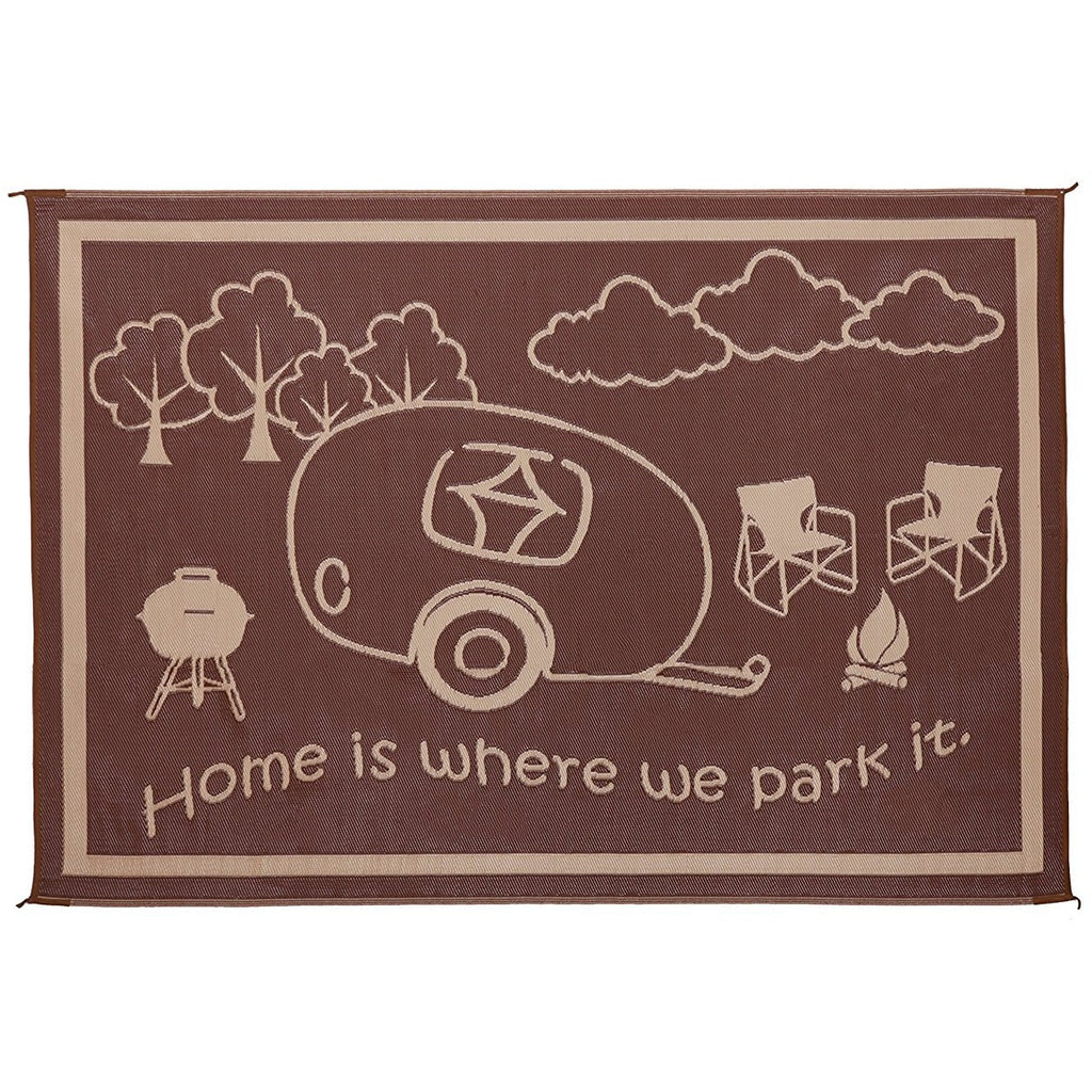 "Ming's Mark ""Home is Where We Park It"" Mat 8 x 11 (D)"