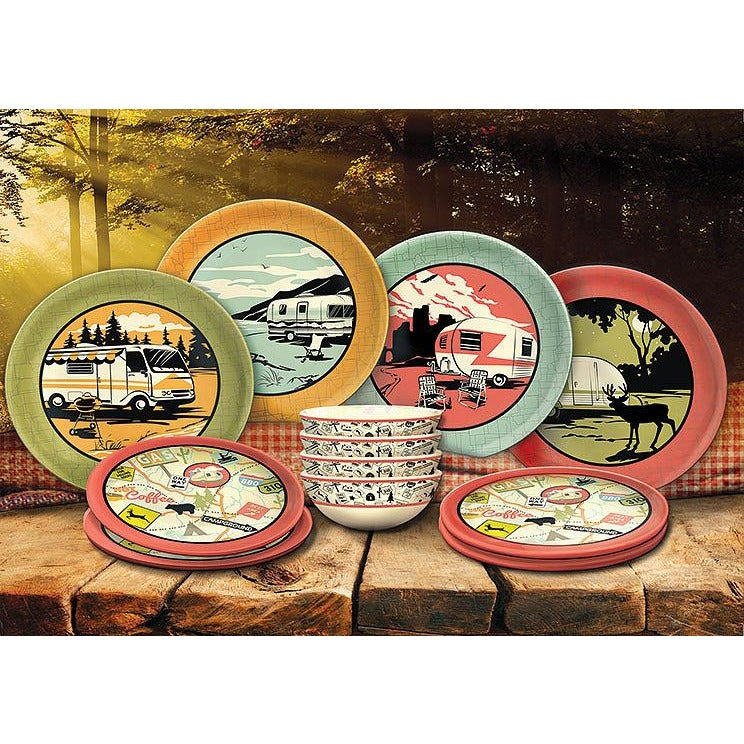 Camp Casual CC001 12 Piece Melamine Dish Set