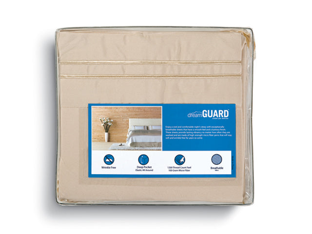 DreamGuard Micro Fiber Sheets - Cream