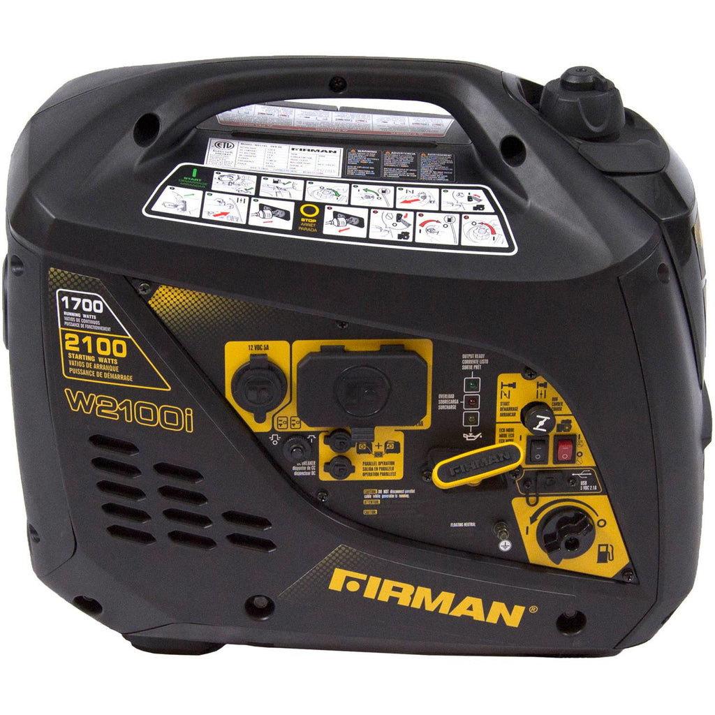 Firman W01781 1700/2100 Watt Portable Gas Inverter Generator