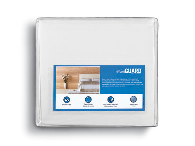 DreamGuard Micro Fiber Sheets - White