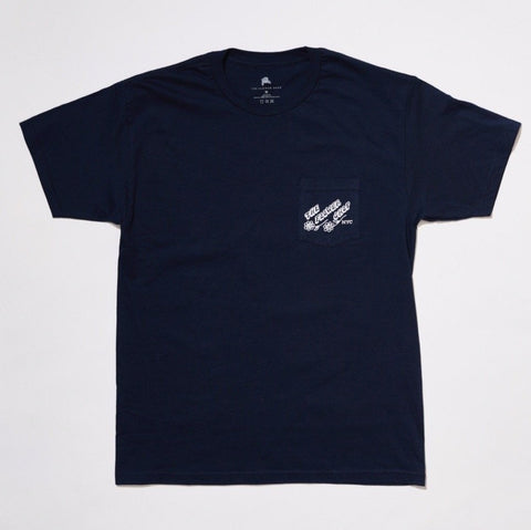 Jamie Browne T-Shirts x The Flower Shop Pocket Tee (Navy Blue)