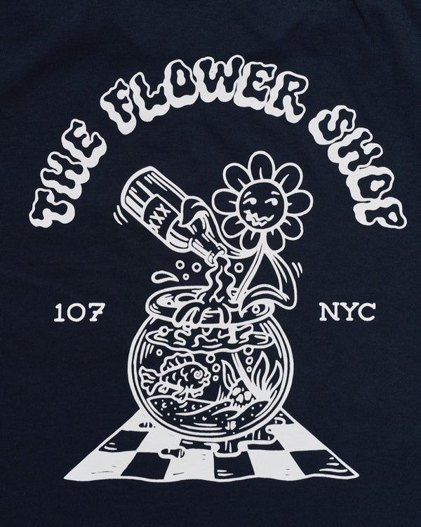 The Flower Shop x Jamie Browne T-Shirts (Navy Blue)