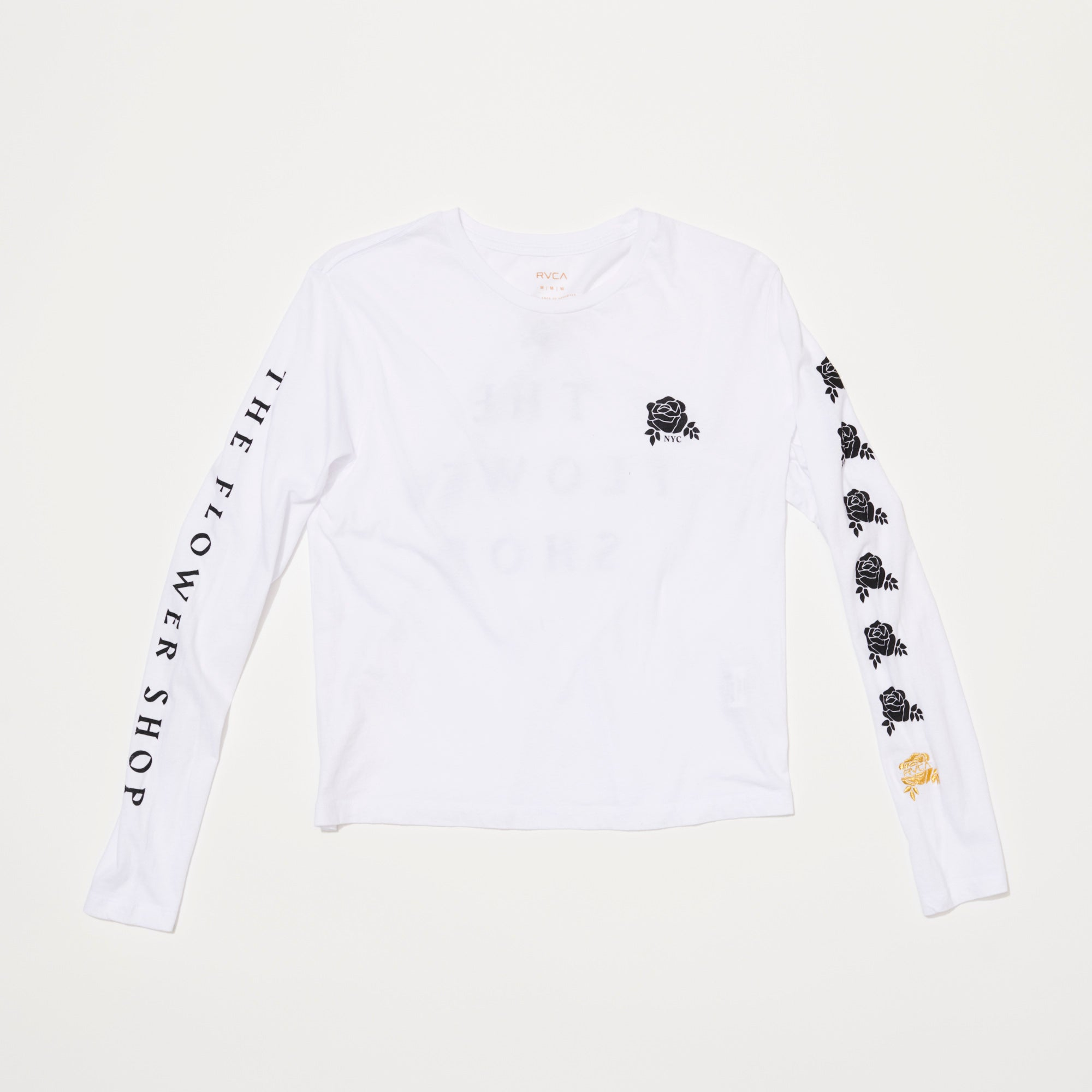 Womens RVCA x The Flower Shop Long Sleeve (White/Black)
