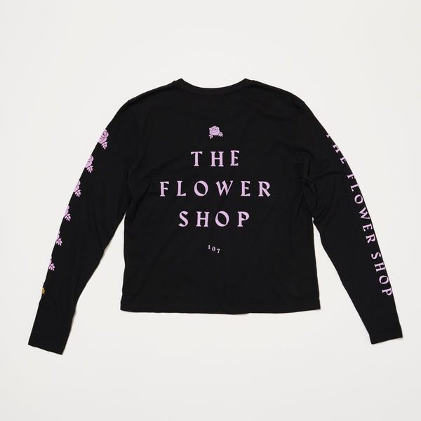 Womens RVCA x The Flower Shop Long Sleeve (Black/Purple)