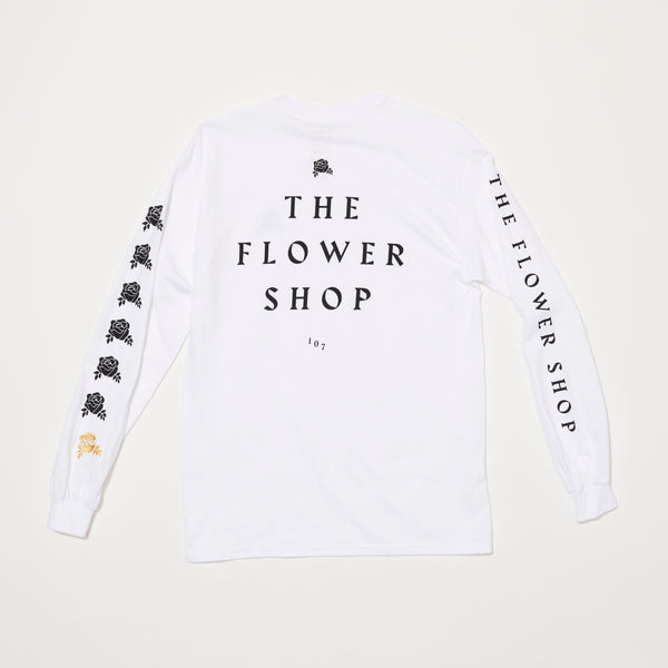 RVCA x The Flower Shop  Long Sleeve (White/Black)