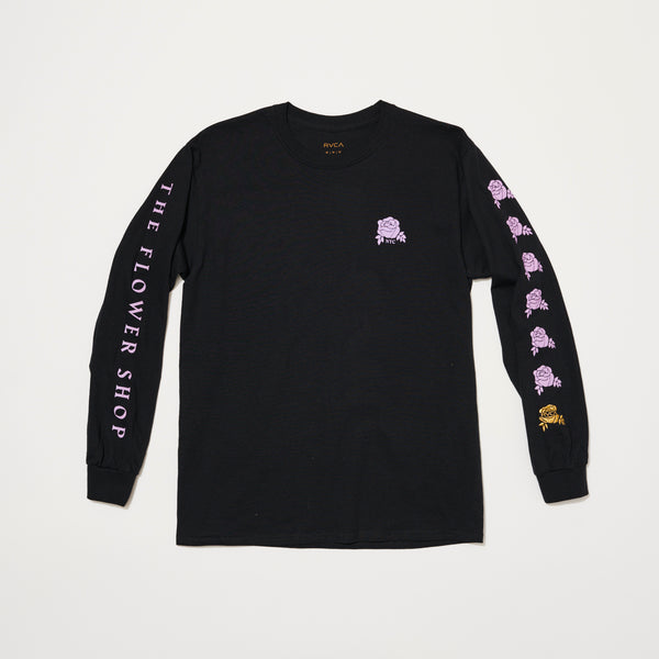 RVCA x The Flower Shop Long Sleeve (Black/Purple)