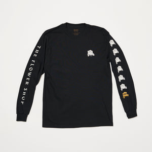 RVCA x The Flower Shop Long Sleeve (Black/White)