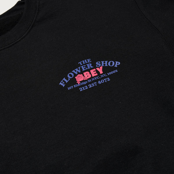 OBEY x The Flower Shop of Horrors Crewneck Sweater (Black)