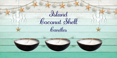 Luxury Island Coconut Shell Candle-Comes with a free Necklace Charm