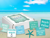 Beach Quote Soaps Gift Box--Free Starfish Beach Charm