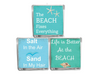 Beach Quote Candle-Comes with a free Starfish Charm