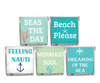 Beach Please Beach Quote Candle-Comes with a free Starfish Charm