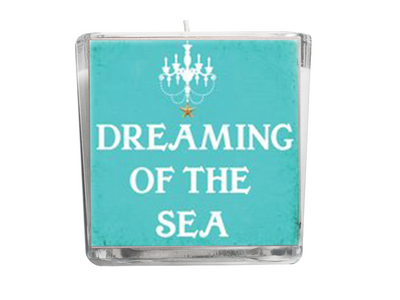 Dreaming of the Sea Beach Quote Candle-Comes with a free Starfish Charm