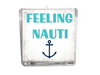 Feeling Nauti Beach Quote Candle-Comes with a free Starfish Charm