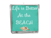 Life is Better at the Beach Beach Quote Candle-Comes with a free Starfish Charm