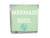 Mermaid Soul Beach Quote Candle-Comes with a free Starfish Charm