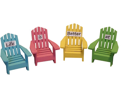 Adirondack Chairs Life is Better at the Beach Set