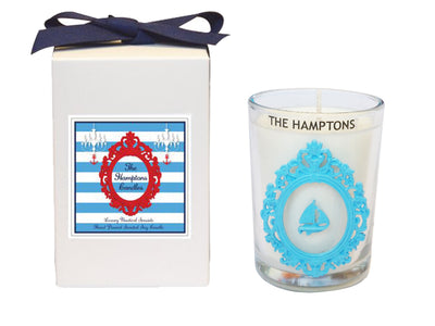 Luxury The Hamptons Sailboat Seaside 100% Coconut SOY 8 oz. Candle