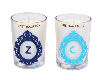 Luxury Monogram The Hamptons Seaside 100% Coconut SOY 8 oz. Candle